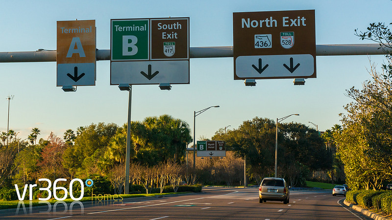 Orlando International Airport Road Signs