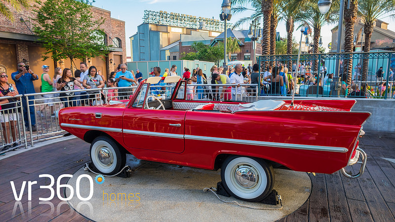 Amphicars at Disney Springs in Orlando Florida