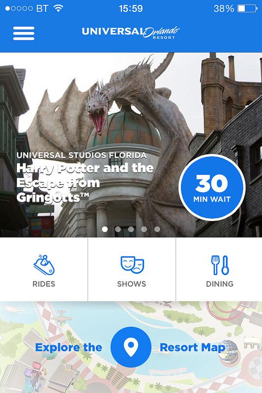 Universal Studios Orlando iPhone App