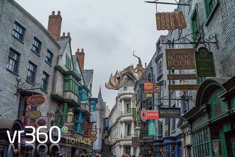 Diagon Alley at Universal Studios in Orlando Florida