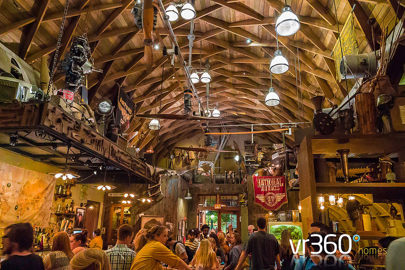 Inside the Jock Lindsey Hangar Bar at Disney Springs