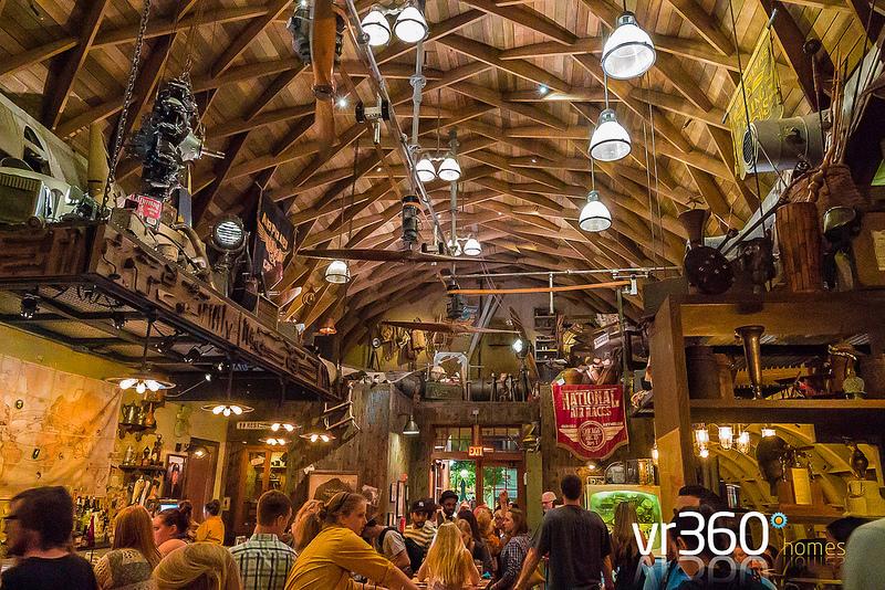 Inside the Jock Lindsey Hangar Bar at Disney Springs